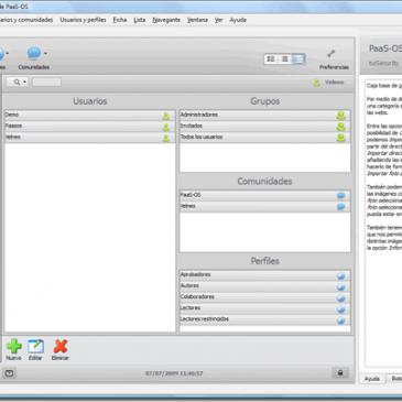 Mejorando el interface de PaaSOS