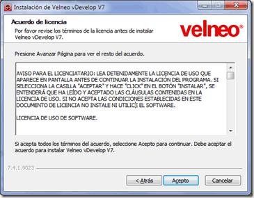 Empaquetando aplicaciones Velneo v7 mediante NSIS