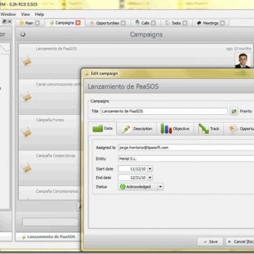 Aplicaciones empresariales – PaaSOS CRM y EPM