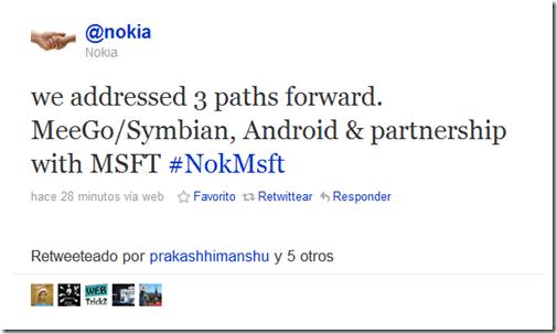 Parece que Nokia anda jugando al gato y al ratón