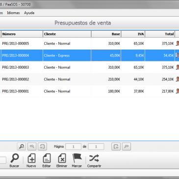 PaaSOS ERP – Programa para hacer facturas